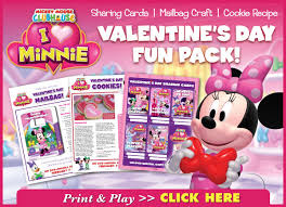 mickey mouse s day free mickey mouse clubhouse i heart minnie activities recipe