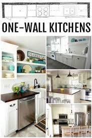 Wall Kitchen Design One Wall Kitchen Garage Apartment Plan Pinterest Kitchens