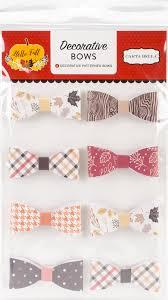 decorative bows hutton scrapbooking hello fall decorative bows 8 pkg