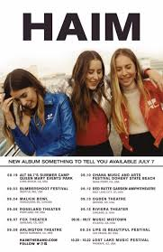 haim poster haim announces american tour stage right secrets