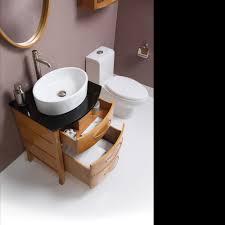 decolav 24 inch lola maple finishes bathroom vanity solid wood
