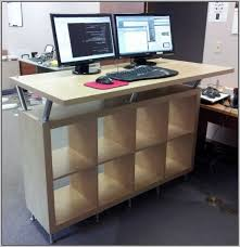 Diy Standing Desk Plans by Desk The Most Expedit Standing Ikea Hackers With Desks Plan Best