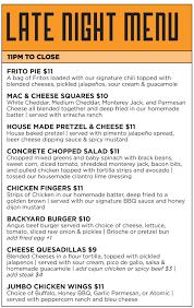 concrete cowboy chi menu late night u0026 brunch