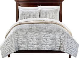 Faux Fur Comforter Chic Home Alligator 7 Piece Queen Comforter Set U0026 Reviews Wayfair