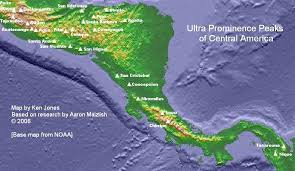 america map mountains central america and caribbean p1500s