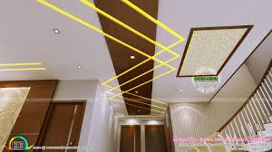 False Roof House Plans False Ceiling Bedroom And Dining Interiors Kerala Home Design