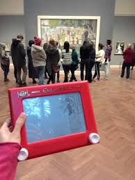 it u0027s a totally normal etch a sketch u2014 but watch when she grabs the