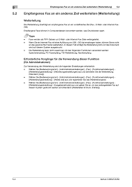 weiterleitung konica minolta bizhub c3350 benutzerhandbuch