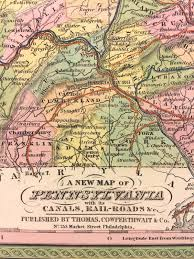 Map Of Harrisburg Pa Antique