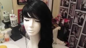 Half Shaved Hairstyles Girls by Half Shaved Side Wig Youtube