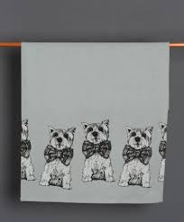 meet archie west highland terrier tea towel scottish gift gillian kyle