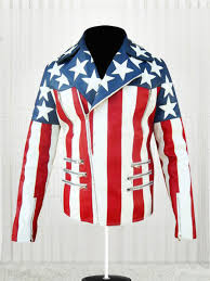 American Flag Cardigan Usa Flag Double Breasted Leather Jacket Stars Jackets