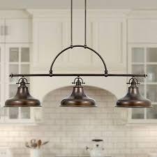 3 light island chandelier emery bronze finish rod hung 3 light island chandelier k3598