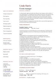 Sample Business Manager Resume by Event Manager Resume U2013 Resume Examples