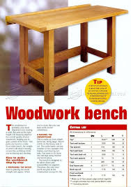 Hobby Bench Plans 2323 Best Benches For Woodworking Images On Pinterest
