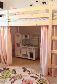 Bunk Bed With Open Bottom Loft Bed With Playhouse Underneath For Shared Room