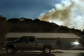 North Bay Fire Control District by Novato Wildfire Burns 10 Acres Near Homes