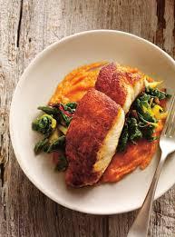 cuisine du poisson poisson rôti aux épices et purée de carottes ricardo