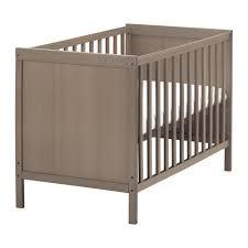 sundvik lit bébé gris brun 60x120 cm ikea