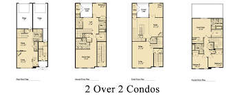 Two Story Condo Floor Plans two over two condominiums