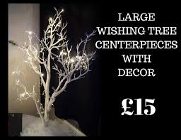 Tree Centerpieces Large Wishing Tree Centerpieces U2013 Finishing Touches Wedding Hire