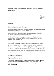 best ideas of how to write a letter of cancellation contract
