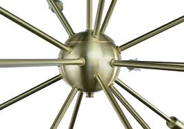 Brushed Brass Chandelier Sputnik Chandelier Brushed Brass 24 Inches In Diameter With 18 Arms