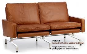 Two Seaters Sofa Pk31 Two Seater Sofa From Poul Kjaerholm Designer Sofas