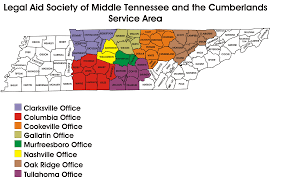 Map Of Middle Tennessee by Office Locations And The Counties We Serve Legal Aid Society Of