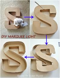 diy marquee letters sign whats ur home story