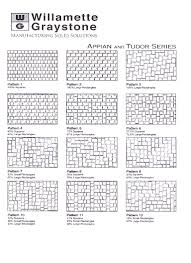 Patterns For Patio Pavers by Lane County Concrete Pavers Brick Patterns