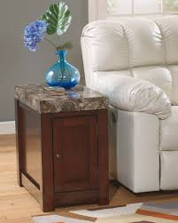 Ashley Furniture Side Tables Marble Stone Top Coffee And End Tables