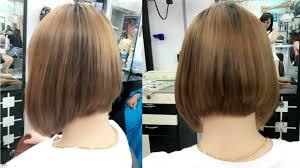 how to cut bob hair cut image salon youtube