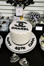 Chanel Party Decorations Halloween Party Themes Chanel Themed 40th Birthday Party
