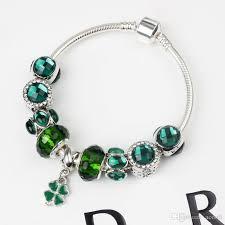 pandora beaded bracelet images 2018 stylish green glass bead bracelet for pandora style parrot jpg