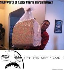 Lucky Charms Meme - giant bag of lucky charm marshmallows memes pinterest lucky