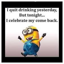 I Quit Meme - minion meme i quit drinking yesterday 4 x4 flexible fridge magnet