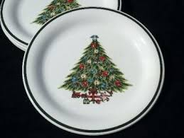 vintage tree dinner plates mt clemens pottery