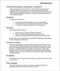 sample business continuity plan small business sample business