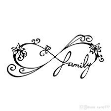 2018 for infinity family decal car window sticker wall vinyl