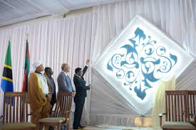 prime minister of tanzania kassim majaliwa unveils the diamond