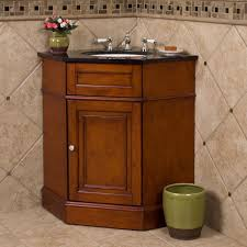 mesmerizing light brown restroom vanity which completed by open