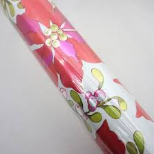 vintage christmas wrapping paper rolls vintage foil poinsettia and mistletoe christmas wrapping paper roll
