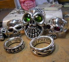 skull ring factory by tony creed