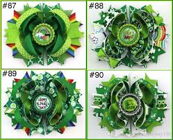st patricks day baby hair bows barrettes top festival