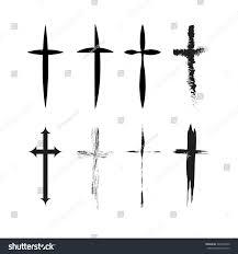 cross tatoo cross tattoo vector stock vector 265510940 shutterstock