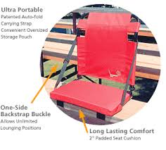 the bleacher back game chair by gci outdoor