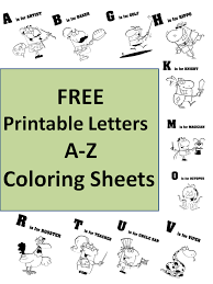 free printable letters a to z unique coloring sheets