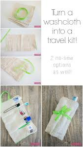 diy washcloth travel kit simple sewing projects sewing projects