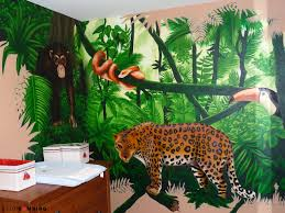 chambre garcon jungle decoration chambre bebe theme jungle mineral bio